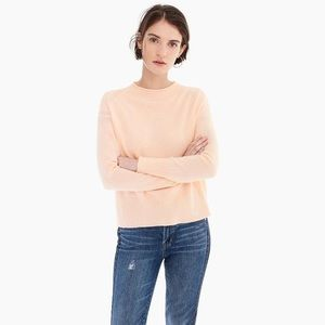 NWT J.Crew {Navy} Cashmere Ribbed Neck Sweater